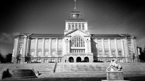 Szczecin architecture. Artistic look in black and white. Stock Images