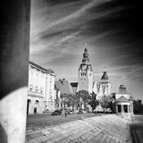 Szczecin architecture. Artistic look in black and white. Stock Photo