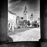 Szczecin architecture. Artistic look in black and white. Royalty Free Stock Image