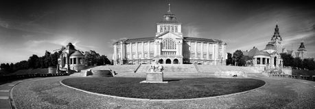 Szczecin architecture. Artistic look in black and white. Royalty Free Stock Photography