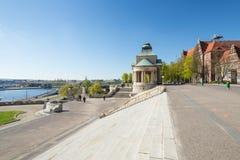 Szczecin - architecture historique/terrasses de Haken Photo stock