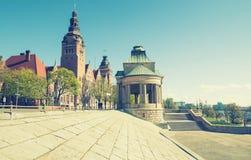 Szczecin - architecture historique/terrasses de Haken Photo libre de droits