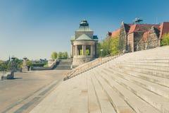 Szczecin - architecture historique/terrasses de Haken Photographie stock libre de droits