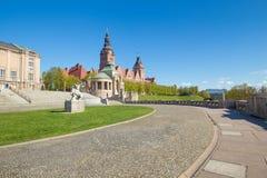 Szczecin - architecture historique/terrasses de Haken Image stock