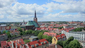 Szczecin Cathedral, Poland stock video