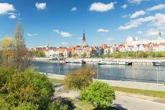 Szczecin city in Poland - The old town view royalty free stock photography