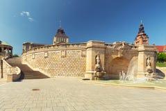 Szczecin Fontaine historique et architecture de la ville photos libres de droits