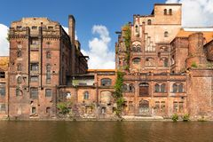 Free Szczecin.  Historic Factory Ruins Of Old Breweries Stock Photography - 146740022