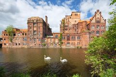 Free Szczecin.  Historic Factory Ruins Of Old Breweries Stock Images - 146740324