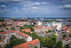 Szczecin i Polen Fotografering för Bildbyråer
