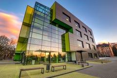 Szczecin, mars 2018 : Complexe de bâtiment moderne du ce de recherches photo libre de droits
