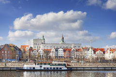 Szczecin old town seen from the Odra River, Poland Stock Photography