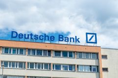 Logo and sign of German bank Deutsche Bank. royalty free stock photography