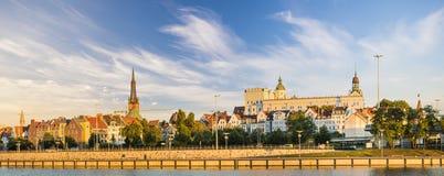 SZCZECIN,POLAND-CIRCA JULY 2016: panorama of Old Town in Szczecin Stock Photo