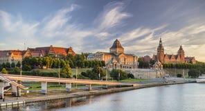 SZCZECIN,POLAND-CIRCA JULY 2016: panorama of Old Town in Szczecin Royalty Free Stock Photos