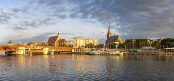 SZCZECIN,POLAND-CIRCA JULY 2016: panorama of Old Town in Szczecin stock photos