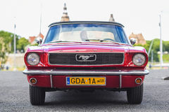 Szczecin, Poland, July 17, 2017: Ford Mustang 289, front view. Szczecin, Poland, July 17, 2017: Ford Mustang 289 front view car stock image