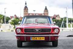Szczecin, Poland, July 17, 2017: Ford Mustang 289, front view. Szczecin, Poland, July 17, 2017: Ford Mustang 289 front view car royalty free stock image