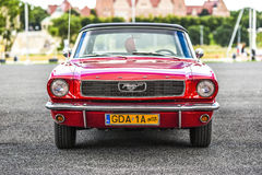 Szczecin, Poland, July 17, 2017: Ford Mustang 289, front view. Szczecin, Poland, July 17, 2017: Ford Mustang 289 front view car stock photos