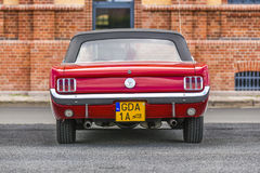 Szczecin, Poland, July 17, 2017: Ford Mustang 289, rear view. Szczecin, Poland, July 17, 2017: Ford Mustang 289 rear view car stock photos
