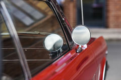 Szczecin, Poland, July 17, 2017: Ford Mustang 289, view on a detail. Szczecin, Poland, July 17, 2017: Ford Mustang 289 view on a detail stock photo