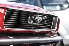 Szczecin, Poland, July 17, 2017: Ford Mustang 289, view on a detail. Szczecin, Poland, July 17, 2017: Ford Mustang 289 view on a detail royalty free stock photos