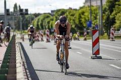 Szczecin, Poland, July 9, 2017: Triathlon Szczecin, Triathletes Stock Photography
