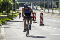 Szczecin, Poland, July 9, 2017: Triathlon Szczecin, Triathletes Royalty Free Stock Photos