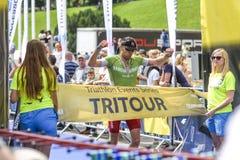 Szczecin, Poland, July 9, 2017: Triathlon Szczecin, Triathletes Stock Photos