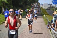 Szczecin, Poland, July 9, 2017: Triathlon Szczecin, Triathletes Royalty Free Stock Photo