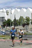 Szczecin, Poland, July 9, 2017: Triathlon Szczecin, Triathletes Royalty Free Stock Images