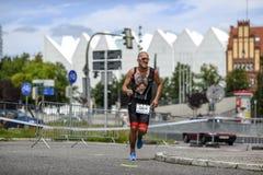 Szczecin, Poland, July 9, 2017: Triathlon Szczecin, Triathletes Stock Photo