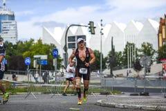 Szczecin, Poland, July 9, 2017: Triathlon Szczecin, Triathletes Stock Images
