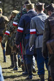 Szczecin, Poland, March 3, 2013: Polish soldiers during historical reconstruction. Stock Images