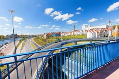 Szczecin in Poland / Panorama of the castle and historical part royalty free stock photography