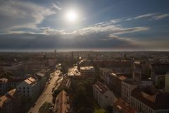 Szczecin in Poland / Panorama of the castle and historical part royalty free stock photo
