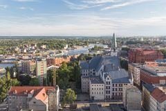 Szczecin in Poland / panorama view. Szczecin in Poland / view of the city royalty free stock photos