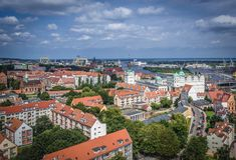 Szczecin in Polen Stockbild