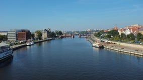 Szczecin in Polen/im Panorama des Schlosses und des historischen Teils lizenzfreie stockbilder
