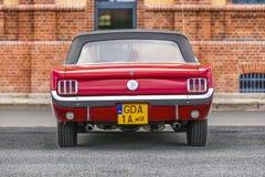 Szczecin, Polen, 17 Juli, 2017: Ford Mustang 289, achtermening Stock Foto's