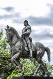 Szczecin, Polonia, il 17 luglio 2017: Colleoni su un cavallo, monumento i Fotografie Stock Libere da Diritti