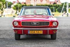 Szczecin, Polonia, il 17 luglio 2017: Ford Mustang 289, vista frontale Fotografie Stock