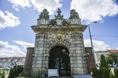Szczecin, Polonia, il 17 luglio 2017: Portone reale in Szczecin, histori Fotografia Stock