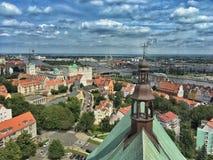Szczecin in Polonia fotografie stock libere da diritti
