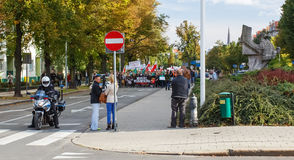 Szczecin - protest against Muslims. No muslims Royalty Free Stock Images