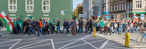 Szczecin - protest against Muslims. No muslims Royalty Free Stock Photography
