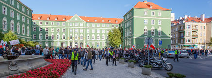 Szczecin - protest against Muslims. No muslims royalty free stock photo