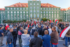 Szczecin - protest against Muslims. No muslims stock images