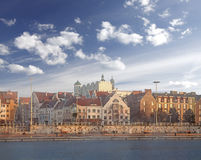 Szczecin (Stettin) City. Szczecin (Stettin) City with Pomeranian Dukes Castle, river view. Poland Royalty Free Stock Photos