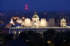 Szczecin (Stettin) City at night, Poland. Royalty Free Stock Photography